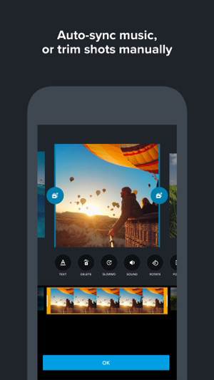 Quik Video Editor for the iPhone