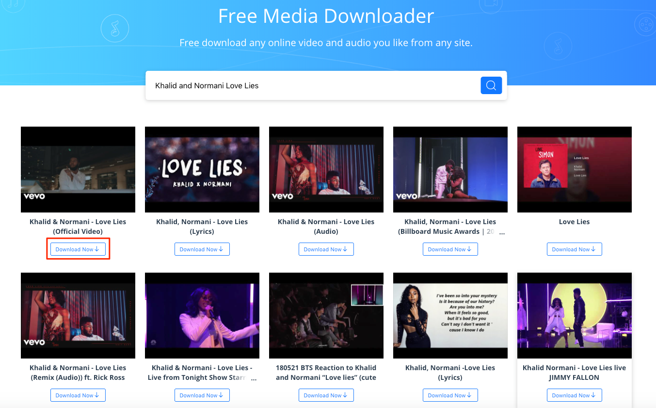 Best YouTube to MP3 Converter: AnyGet - Step 2