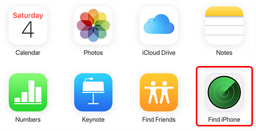 Access the Find iPhone Option on iCloud