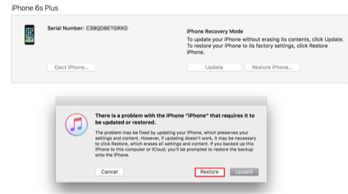 Bypass iPhone/iPad Password via Recovery Mode - Step 3
