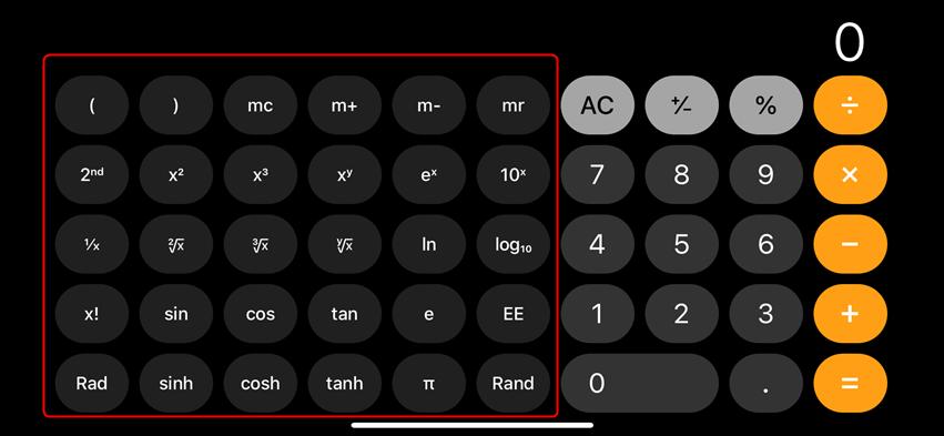 More Scientific Tabs in Calculator