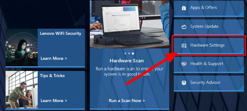Click on Hardware Settings