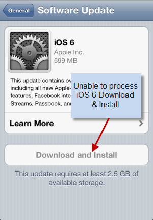 Cannot Download iOS 6
