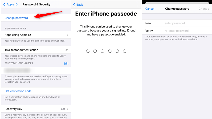 How to Change Apple ID Password on iPhone