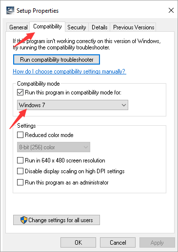 Change Compatibility Mode