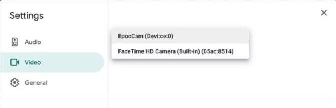 Change Default Camera