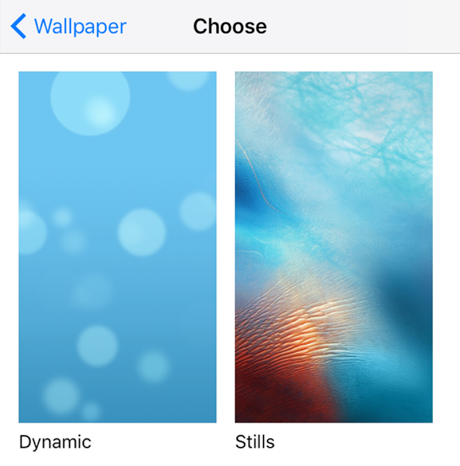 View the Available Wallpapers