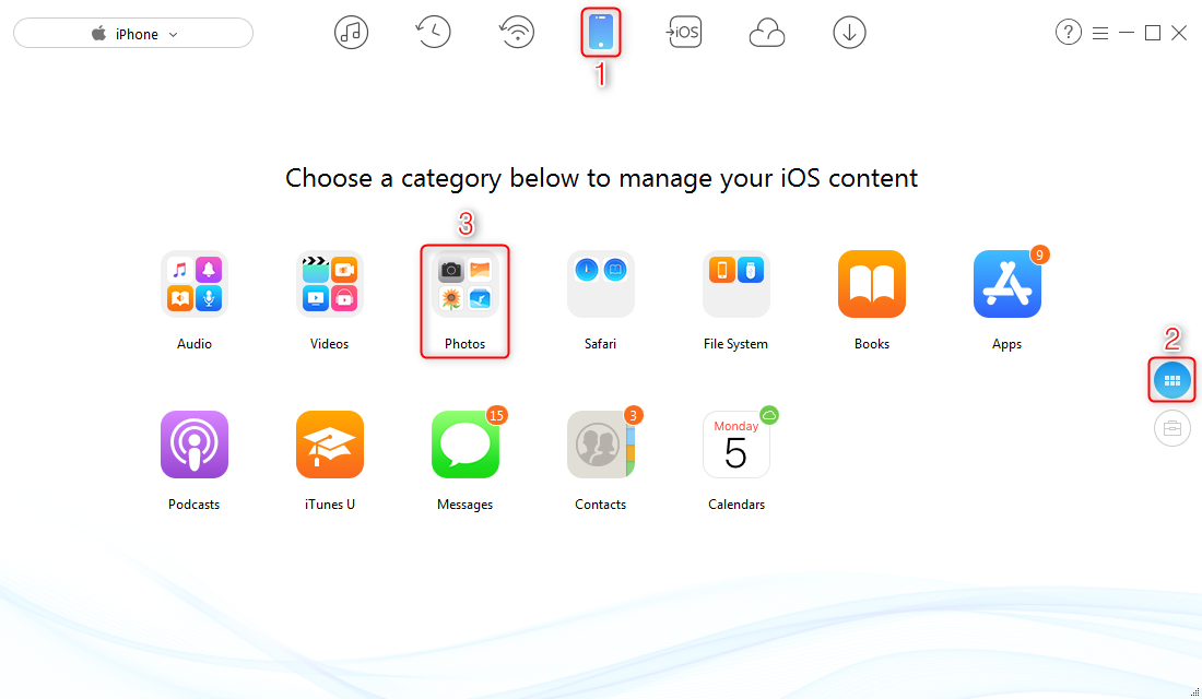 How to Manage Storage on iPhone via AnyTrans for iOS