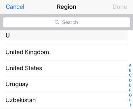 Choose A New Country for Your Device
