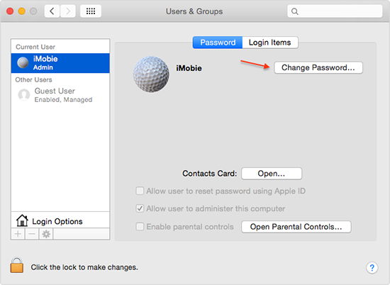 How to Add or Change Your Mac's Login Password – Step 3