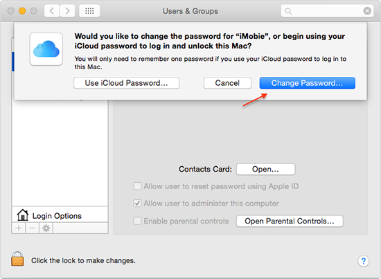 How to Change Your Mac's Login password – Step 4