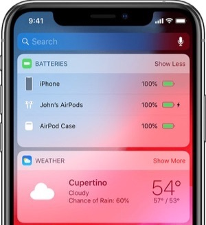 Show Battery Percentage from Batteries Widget