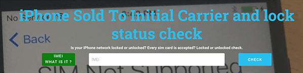 Check iPhone Unlock Status Online