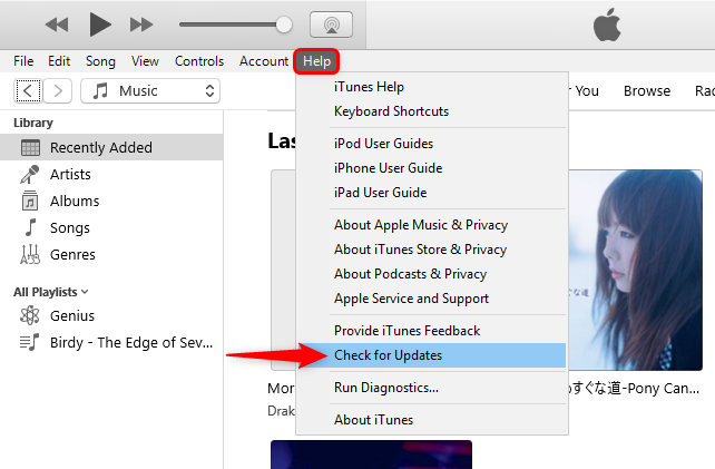Check for iTunes Updates on Windows