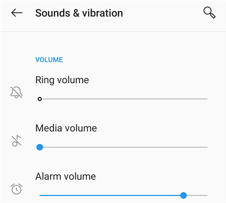 Check Android Ring Settings