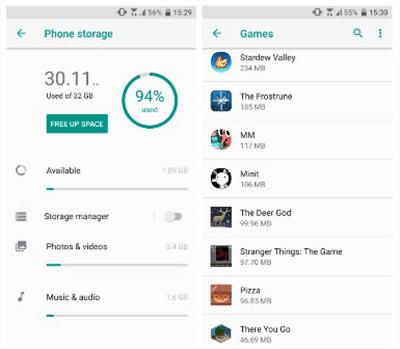 Check the Phone Storage