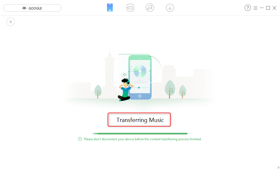 Transfer This Is America to Android - Step 2