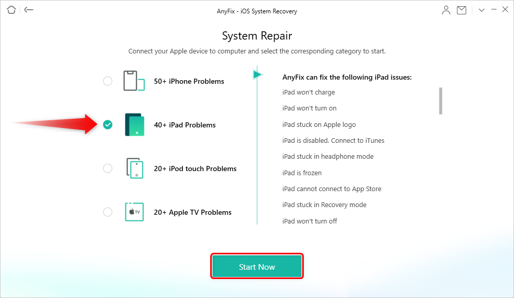 Choose iPad Problems and Start Now