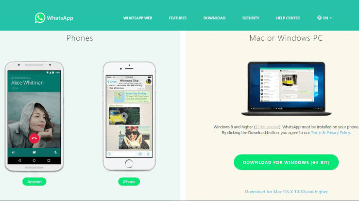 Choose the Video Call or Voice Call in WhatsApp Web