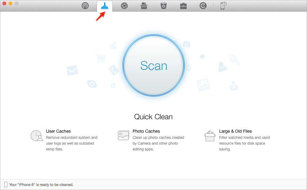 Clean Photos Caches on iPhone 4s/5/5s/6/6s with PhoneClean