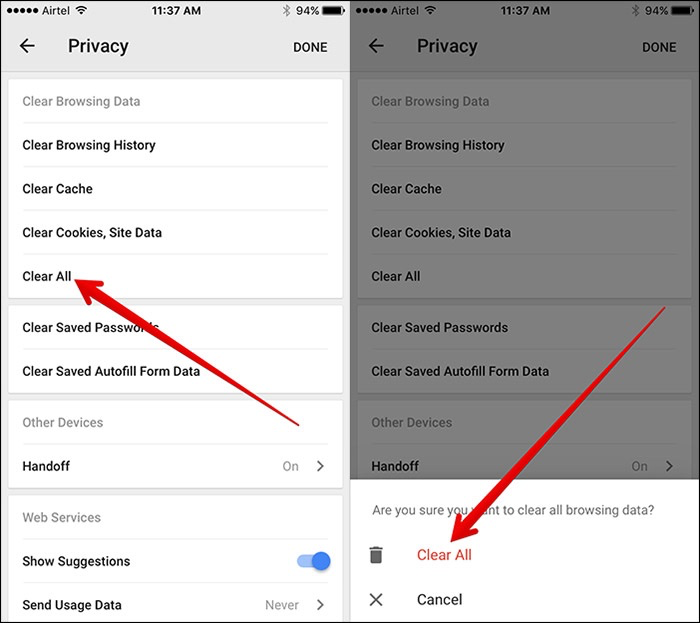 How to Clear Chrome History and Cache on iPhone/iPad