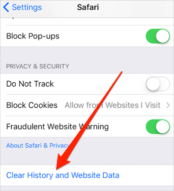 delete iphone search history how to delete safari history cookies junks on ios 9 device 13959