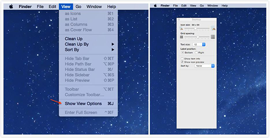 Customize Desktop View Options in the Finder