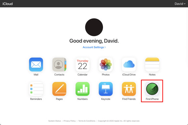 Disable Find My iPhone on iCloud