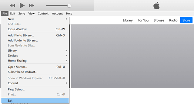 Close iTunes on Your Computer