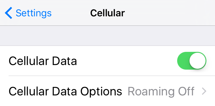iOS 10 Problems – Cellular Data Not Working