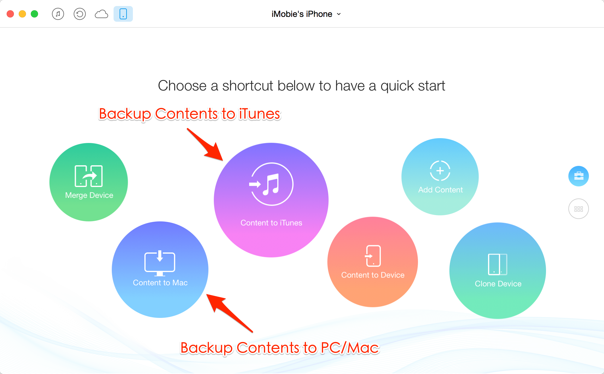 Selectively Backup iOS Contents to Mac/PC with AnyTrans