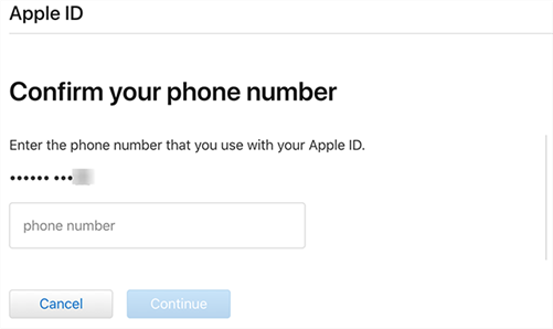 Enter the Associated Phone Number