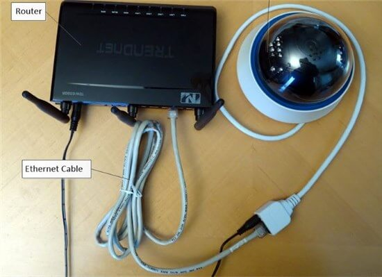 Connect the Webcam to the Router
