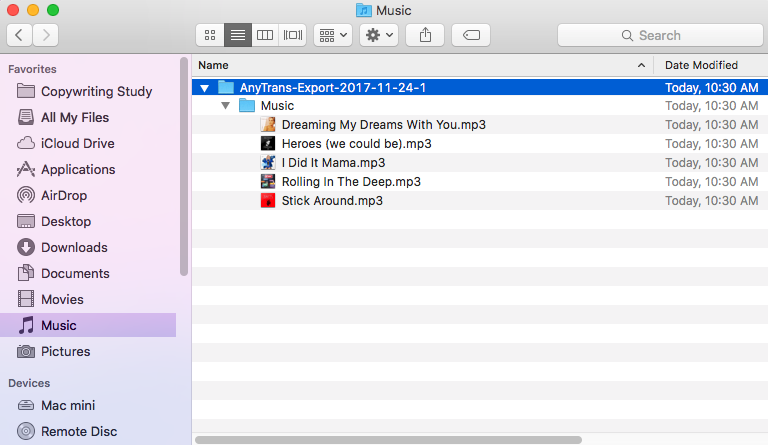 Check the Converted iTunes Songs on Mac – Screen Overview
