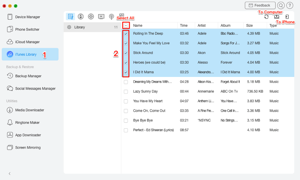 Convert iTunes Songs to MP3 Using AnyTrans