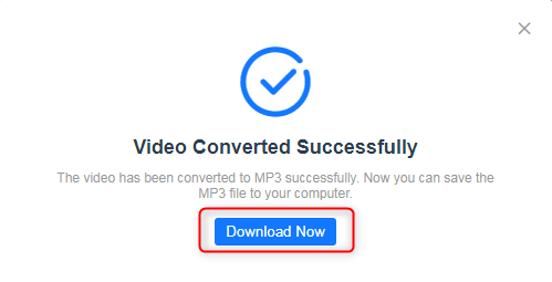 How to Convert Long YouTube Videos to MP3 - Step 3