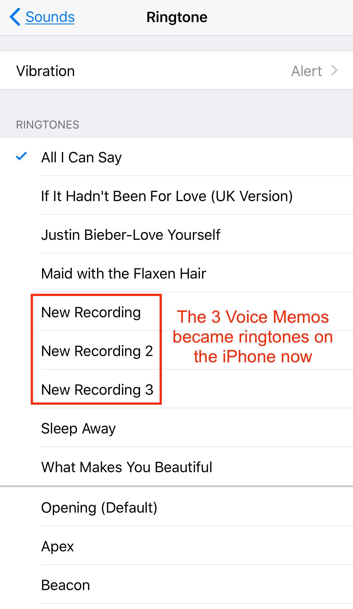 Check Transferred Ringtones on iPhone