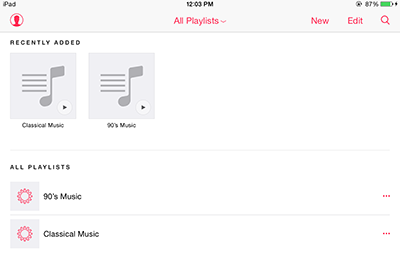 How to Make a Playlist on iPad from Music App