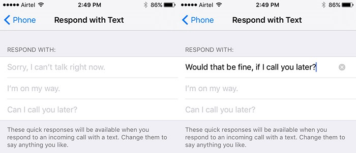How to Set Custom Text Reply on iPhone