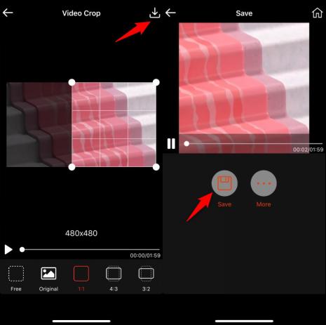 Crop a Video Using Video Crop - Crop and Save