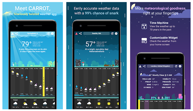 Carrot Weather - an interesting app