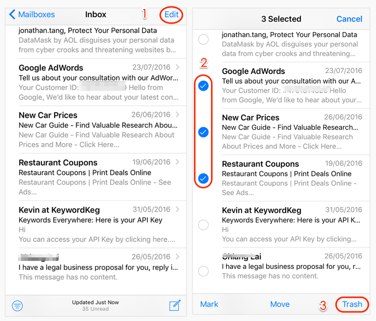 How To Delete All Mail On Iphone
