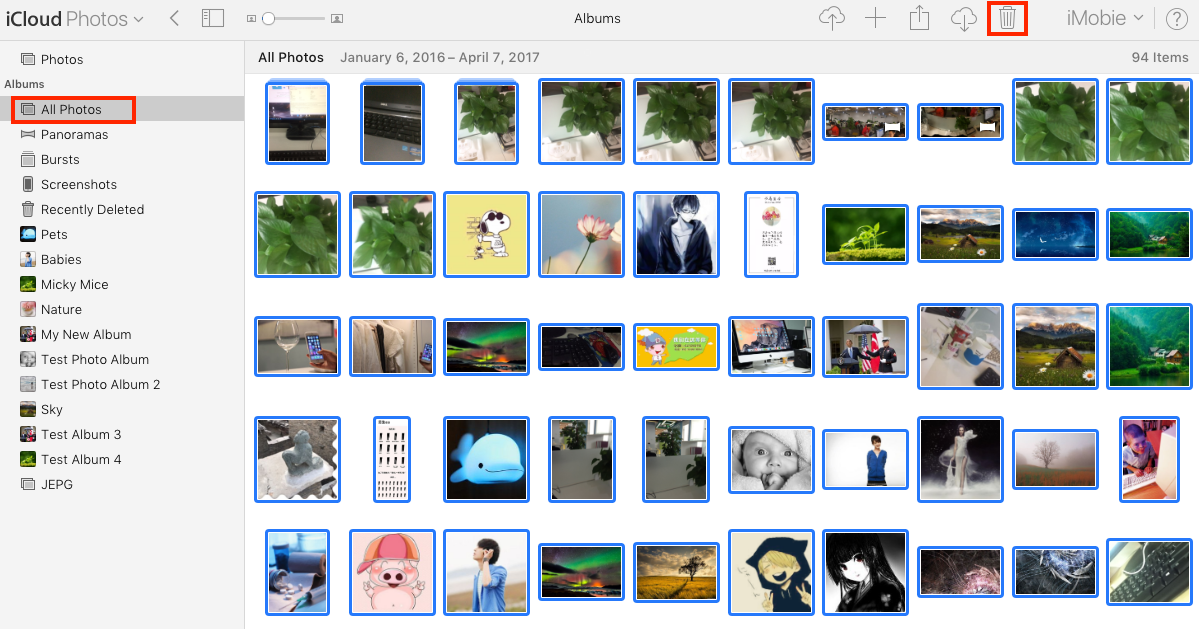 How to Delete All iCloud Photos Directly - Step 3