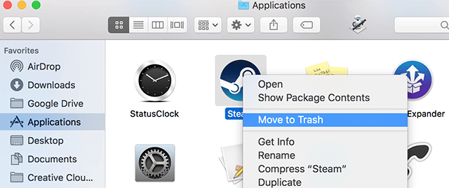 Remove an App using the Finder