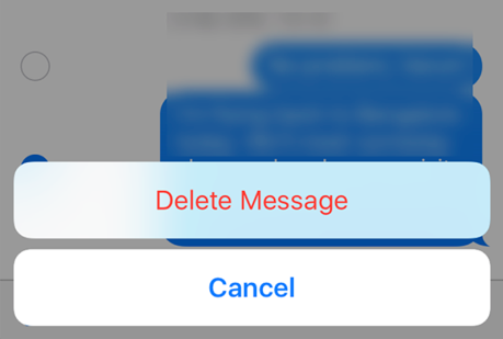 Delete an iMessage from iPhone