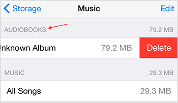 Delete Audiobooks from iPhone/iPad/iPod Directly