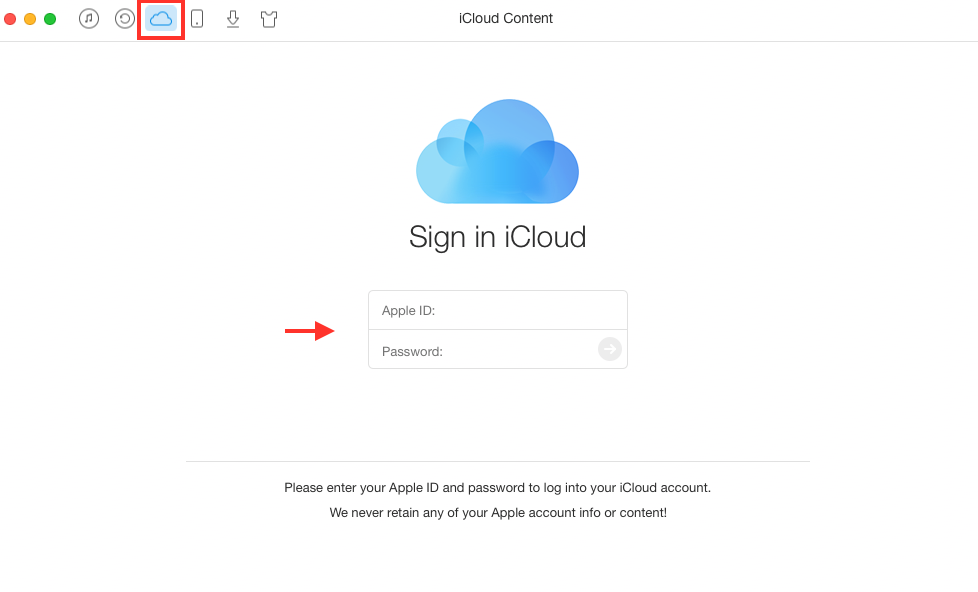 Delete Duplicate Contacts in iCloud with AnyTrans - Step 1