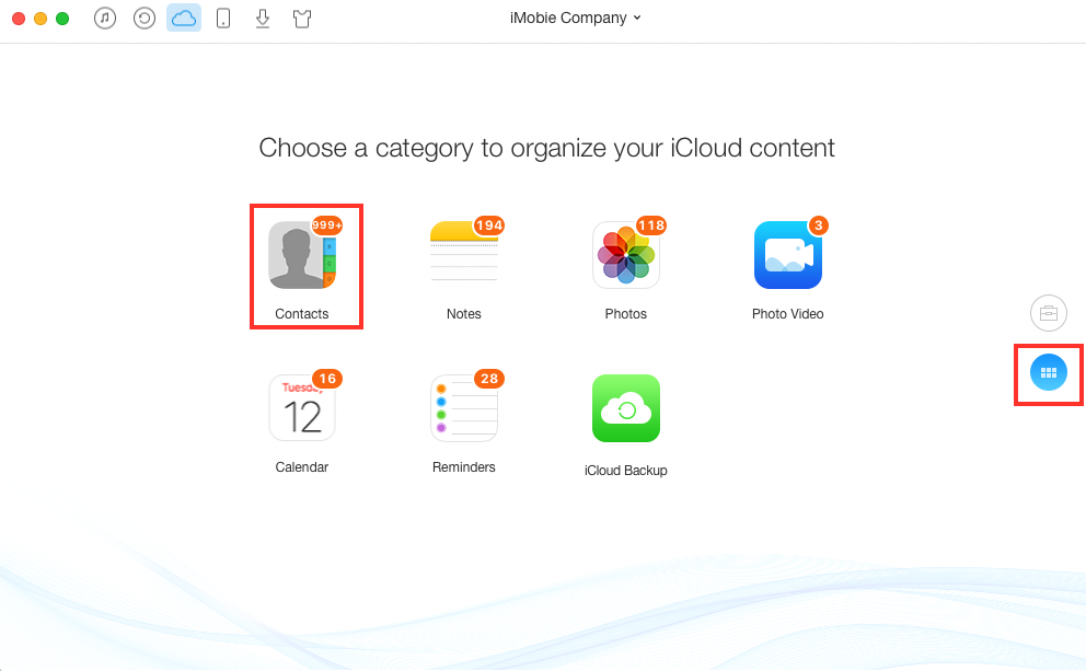 Delete Duplicate Contacts in iCloud with AnyTrans - Step 2
