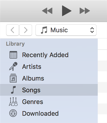 Access your songs in the iTunes app