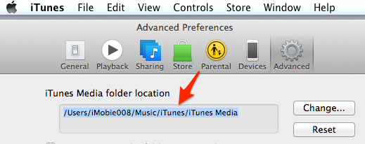 Find iTunes Media folder location on Mac